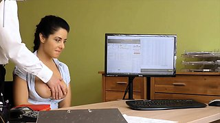 LOAN4K. Crazy sex on the desk in loan office