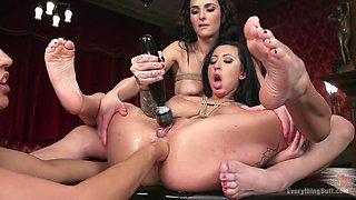 Crazy fetish, anal porn movie with incredible pornstars Bianca Breeze, Lily Lane and Francesca Le from Everythingbutt