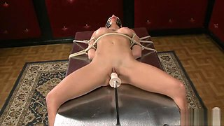 Ariel X bound and fucked by machine