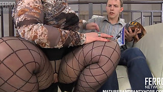 Mature Russian in Pantyhose Fetish Fuck