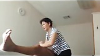 Chinese massage Granny happy ending Handjob
