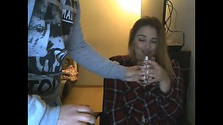 Cam girl sister gets caught by brother and gets a surprise