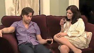 Unsatisfied mature mother seducing her guy