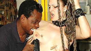 busty milfs first interracial bdsm lesson