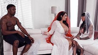 BBW Bride Having Interracial Sex Before Wedding