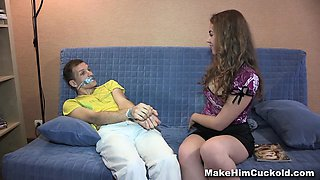Make Him Cuckold - Dumb cheater punished in a kinky way