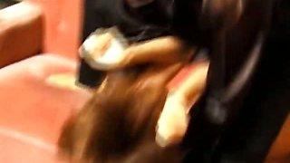 Asian slave gets slit fingered hard