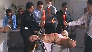 Asian slave gets body punished
