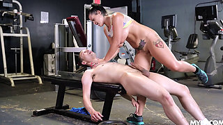 Busty Big Ass Brunette MILF Nadia Fucked Hard in a Gym