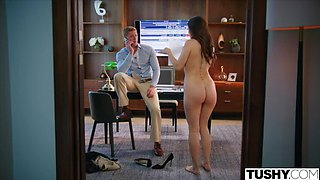 TUSHY Anal-obsessed Vanessa Sky seduces her hot coworker Oliver on PornHD