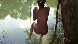 Hot teen arses at the pool and lake