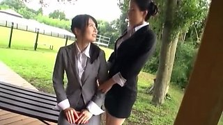 sora130 Lesbian outdoor play