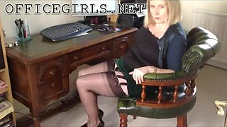 mother I'd like to fuck Wench Secretary In Fully Fashioned Seamed Nylons
