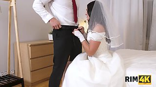RIM4K. Muscled groom receives amazing anilingus from his nice bride