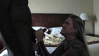 Blond milf meets BBC in Hotel