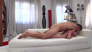 Brutal fuck is what guaranteed by Rocco for dirty bitch Molly B
