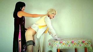 Mistress fucking her crossdresser slave