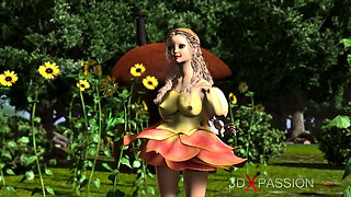 Minotaur fucks hard beautiful young fairies in the forest ma