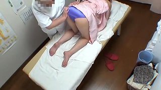 Voyeur massage video of cute Japanese drilled with fingers