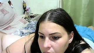 Deep blowjob from BBW amateur housewife