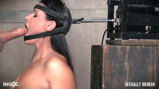 Dude with a huge dick fucks tied up and restrained milf India Summer