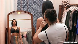 Gorgeous MILF Azul Hermosa gets it good in a dressing room