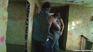 Woman caught and drilled in an abandoned abode
