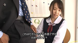 Japanese Schoolgirl Sucks Dick And Has A Mouth Full Of Cum