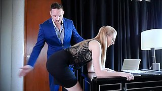Boss Give Punishment To Obedient Slut Secretary