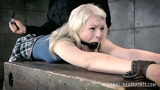 Sweet college chick Enova is punished in the basement