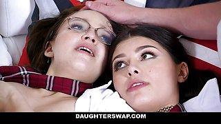Teeny Girls In School Uniforms Reyna and Honey Banged