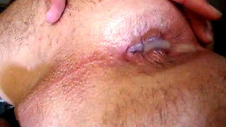 cum leaking from my ass