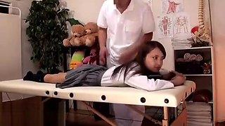 Japanese 18yo schoolgirl massage unexpected end