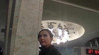 Public upskirt of Russian angel