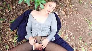 Outdoor sex on camera of public agent and naive teen miss