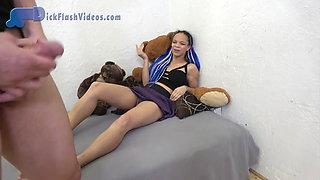 Upskirt CFNM Dick Flashing Teen Pervert Humiliation