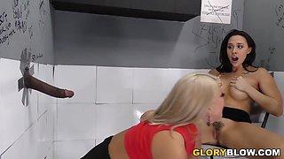 Brooklyn Chase and Chanel Preston BBC Anal at Gloryhole