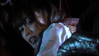 Dazzling Japanese girl in uniform gets used by a monster