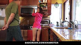 DadCrush - Petite Step-Daughter Fucked In Kitchen