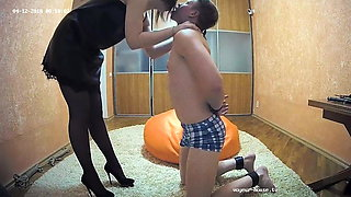 Masked Milf Mistress in Bondage & BDSM Play With A Male Slave