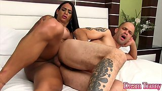 Hot and horny transsexual girls enjoy fucking guys in their assholes with hard dicks