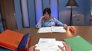 Tsukasa Aoi in Humiliation of Erotic Office Lady part 1.2