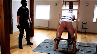 Amateur slave gets restrained and spanked for bad behavior