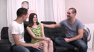 Lisa always wanted to try threesome sex and when her