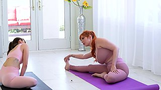 Yoga Teacher Helps Voluptuous Milfs With New Exercises