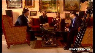 Gilda Roberts and Mandy Bright enjoy foursome sex in hardcore scene