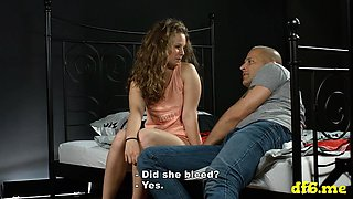 Sexy defloration of a cute playgirl