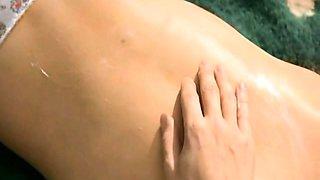 Sophie Marceau stripping down to her panties before
