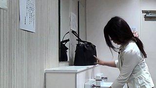 Asian hos piss in toilet
