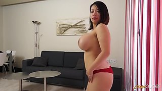 Beautiful brunette with big tits, Tigerr Benson got her daily dose of fuck, until she came